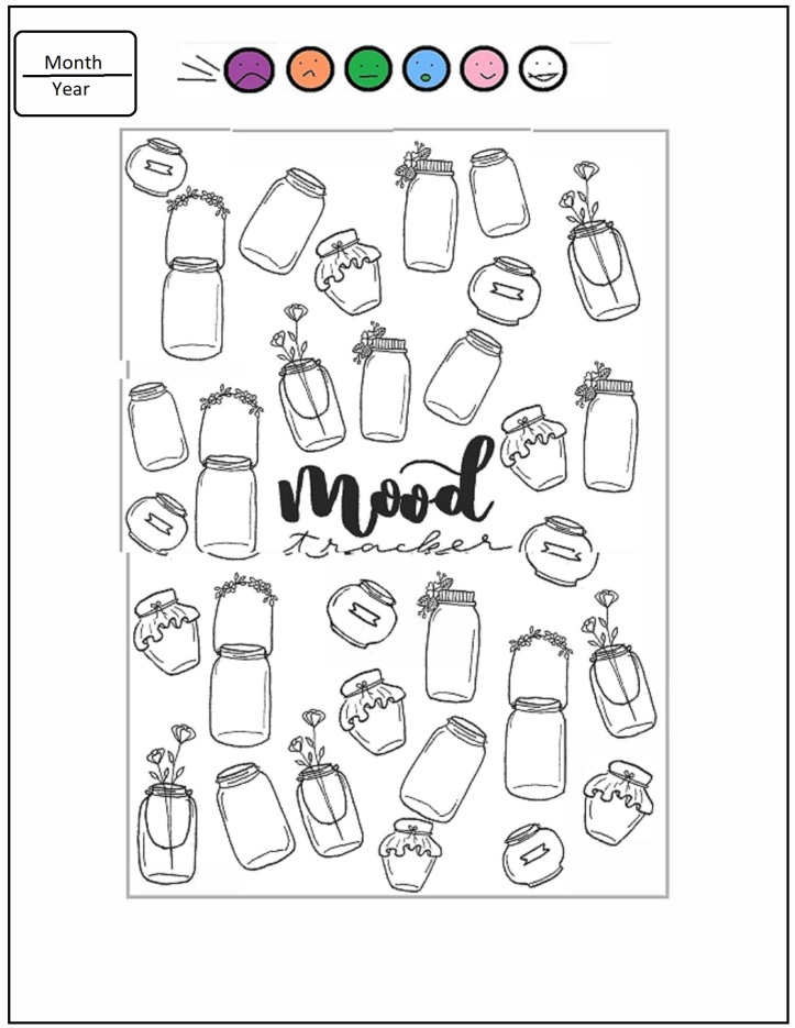31 day mood tracker jars